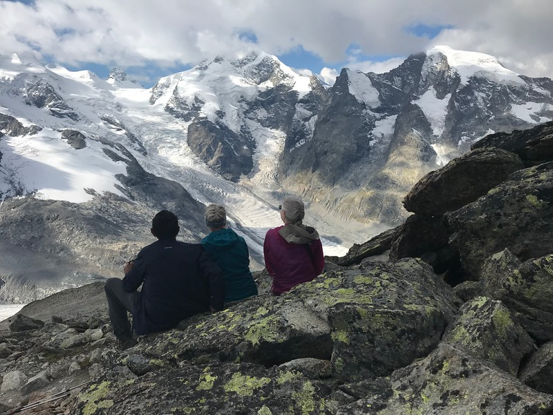 Enjoying the view from Munt Pers