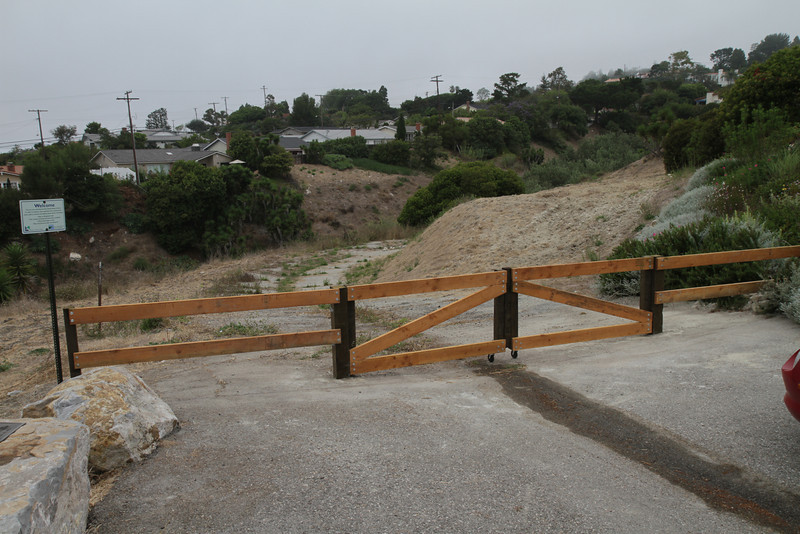 New gate at Posey Way.