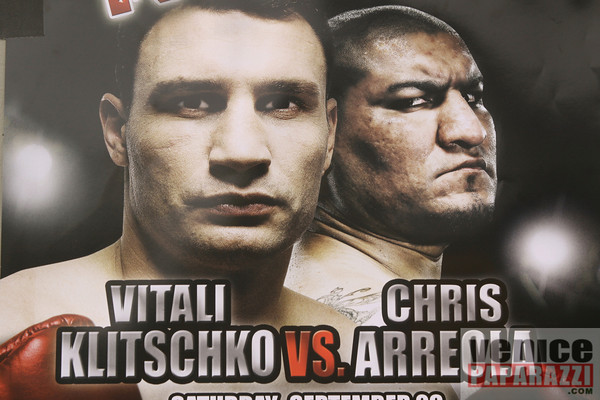 09.23.09  Vitale Klitschko and Chris Arreola face off at Muscle Beach Gym in Venice, Ca