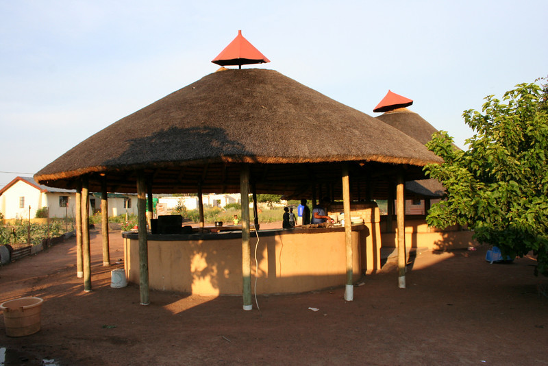 outdoor kitchen at the YWAV site.  dennilton, south africa