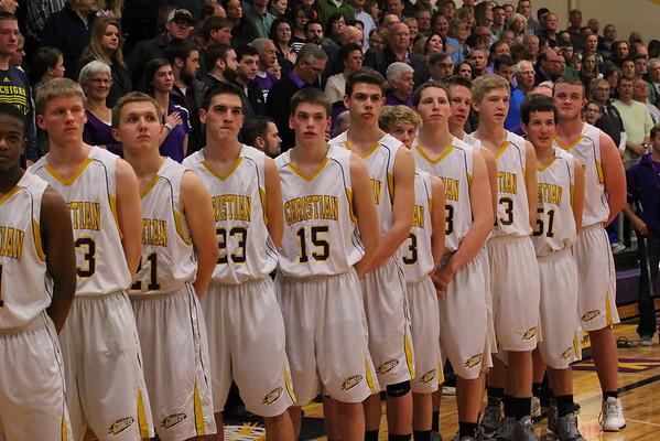 Basketball Boys vs. Hackett - 2/27/15 - KCHS