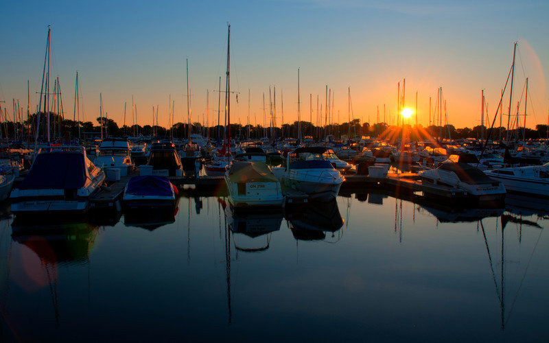 2011-06-30 : Boats in Montrose harbor
