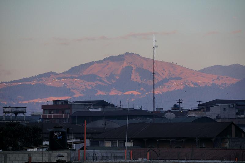 View of mountains surrounding Quetzaltenango, from Casa Argentina