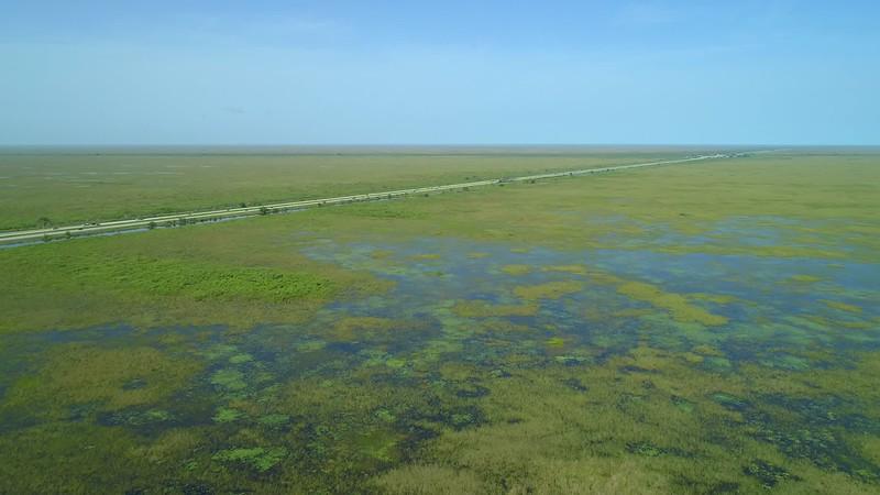 Aerial video Alligator Alley Florida I75