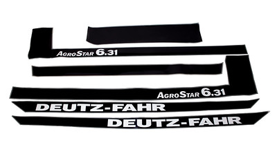 DEUTZ AGROSTAR 6.31 SERIES BONNET DECAL SET