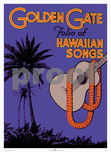 161: 'Golden Gate' Sheet music cover art, from ca. 1938. (PROOF watermark will not appear on your print)