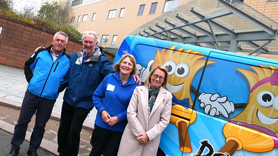 Daft as a Brush Visit Glasgow Beatson Hospital
