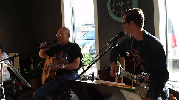 Mark and Wyatt at Dakota Coffee Company
