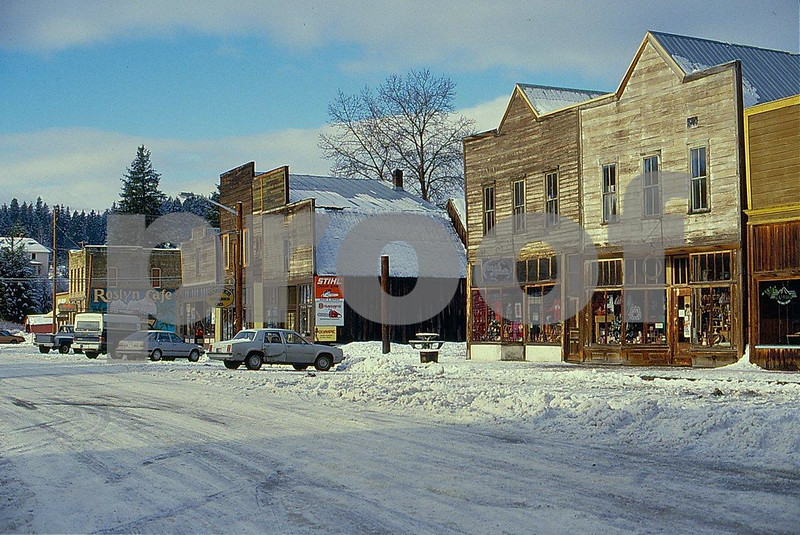 Roslyn main street on January 10, 1989.