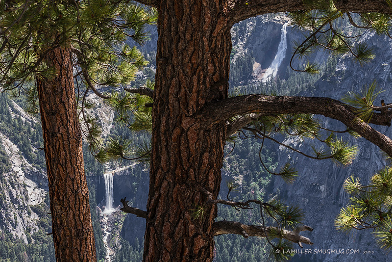 Nevada Falls & Vernal Falls viewed from Glacier Point, Yosemite National Park - June 2015