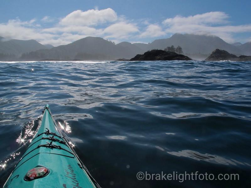 Approaching the Rowley Reefs, Quatsino Sound