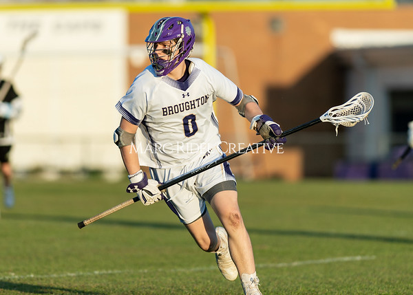 Broughton boys varsity lacrosse vs Enloe. March 10, 2020. D4S_8261