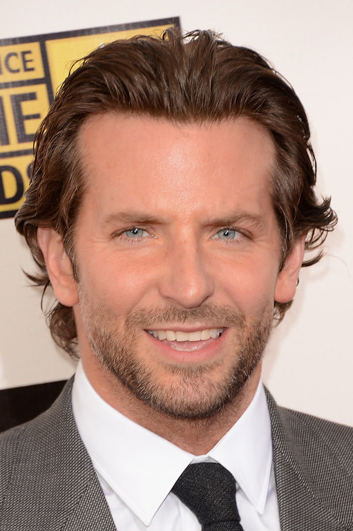 . Actor Bradley Cooper arrives at the 18th Annual Critics\' Choice Movie Awards held at Barker Hangar on January 10, 2013 in Santa Monica, California.  (Photo by Jason Merritt/Getty Images)