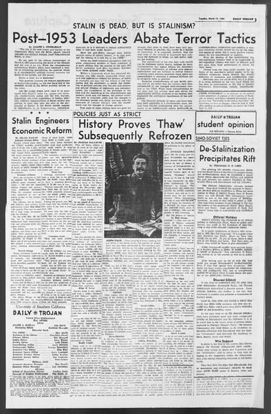 Daily Trojan, Vol. 54, No. 79, March 12, 1963