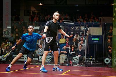 2012 U.S. Open Men's Quarterfinal: James Willstrop (England) defeated Mohamed El Shorbagy (Egpyt)