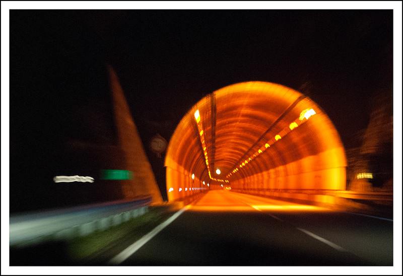 A tunnel on the Atsugi - Odawara highway just before we get to Hakone.