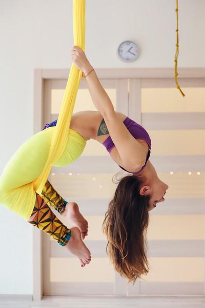 Yoga Instructor Natalya Dedeskul. Saint Petersburg, 2017.