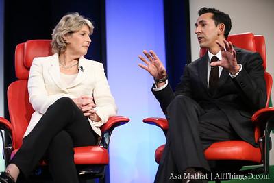 Yusuf Mehdi and Nancy Tellem