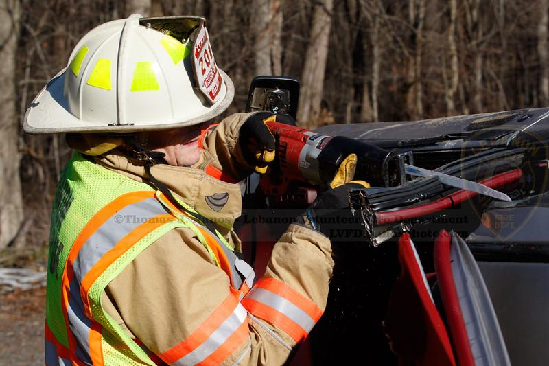 Lebanon Volunteer Fire Department EMT Training/Extrication Drill