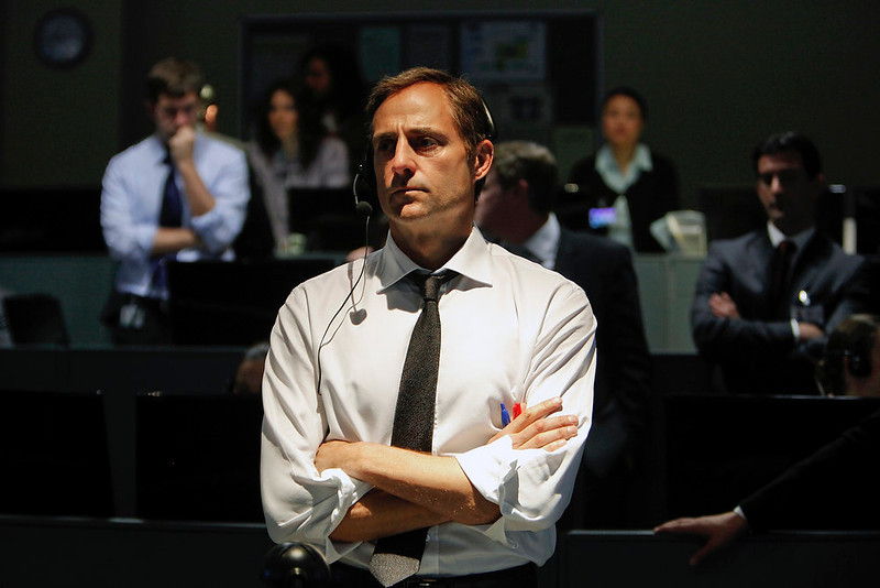 """. From his command post inside the CIA, George (Mark Strong) directs the hunt for Osama bin Laden in Kathryn Bigelow\'s \""""Zero Dark Thirty.\"""" Provided by Columbia Pictures."""