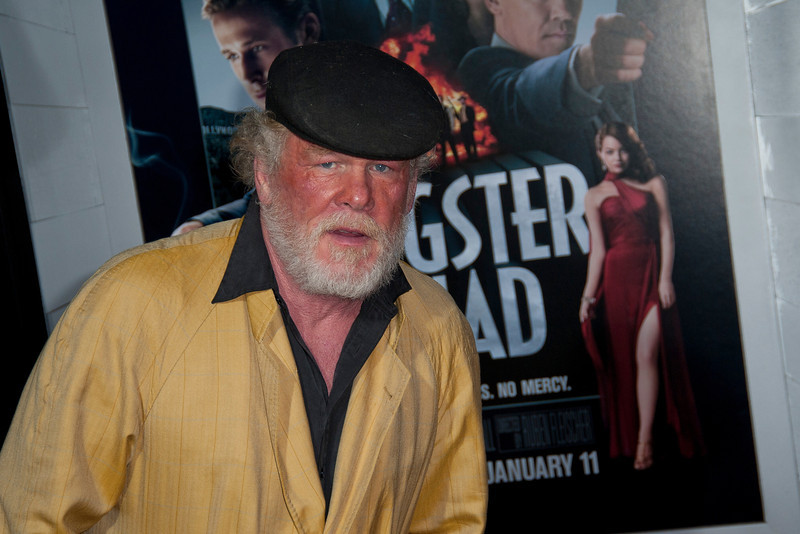 HOLLYWOOD, CA - JANUARY 07: Actor Nick Nolte arrives at Warner Bros. Pictures' 'Gangster Squad' premiere at Grauman's Chinese Theatre on Monday, January 7, 2013 in Hollywood, California. (Photo by Tom Sorensen/Moovieboy Pictures)