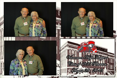 Class of 1955 High School Reunion photobooth 8.29.2015
