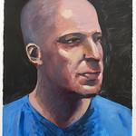 Portrait study - Derek T; acrylic on paper, 22 x 30 in, 2007