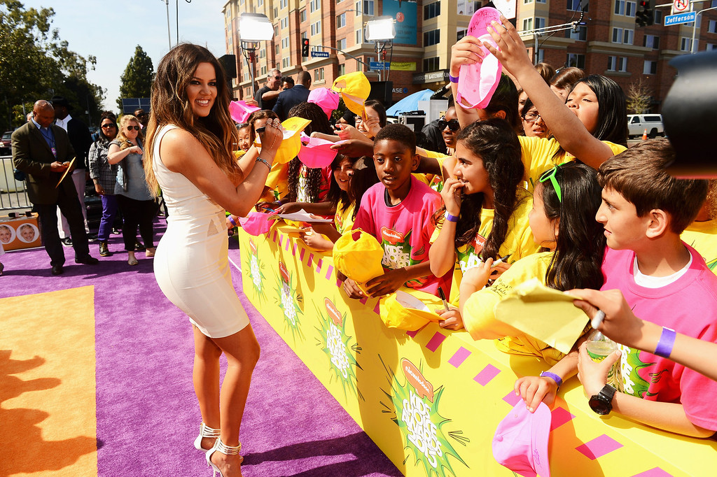 . LOS ANGELES, CA - MARCH 23:  TV personality Khloe Kardashian Odom arrives at Nickelodeon\'s 26th Annual Kids\' Choice Awards at USC Galen Center on March 23, 2013 in Los Angeles, California.  (Photo by Mark Davis/Getty Images for KCA)