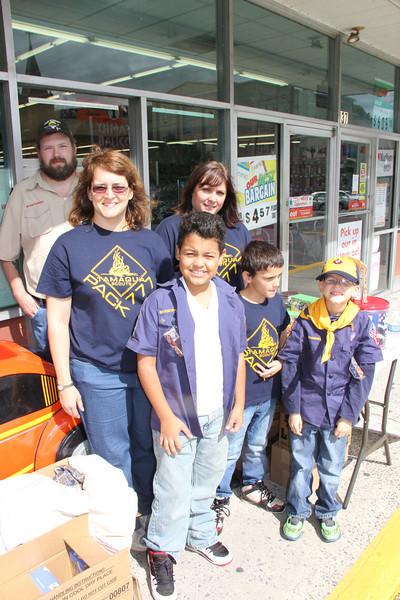 Tamaqua Scouts Fundraising, Family Dollar, Tamaqua (9-22-2013)