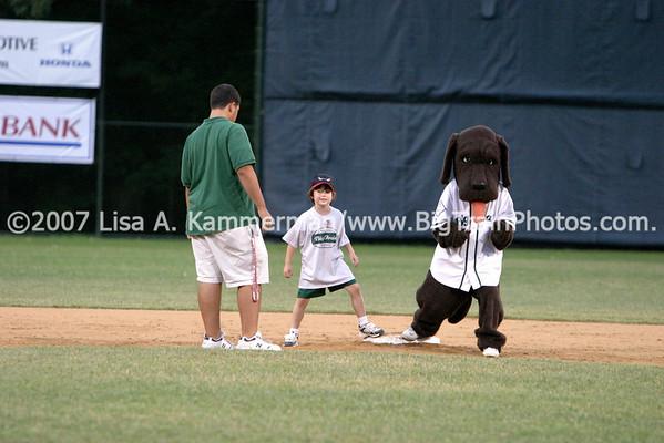 vs College Park Bombers, 6/29/08, Cow, Fans, Pregame