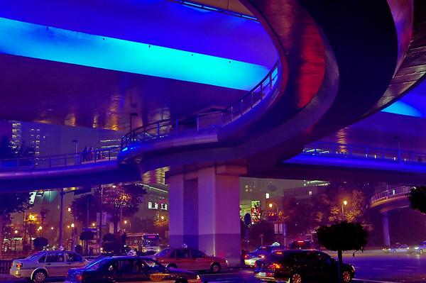 Shanghai - Un periph' de nuit