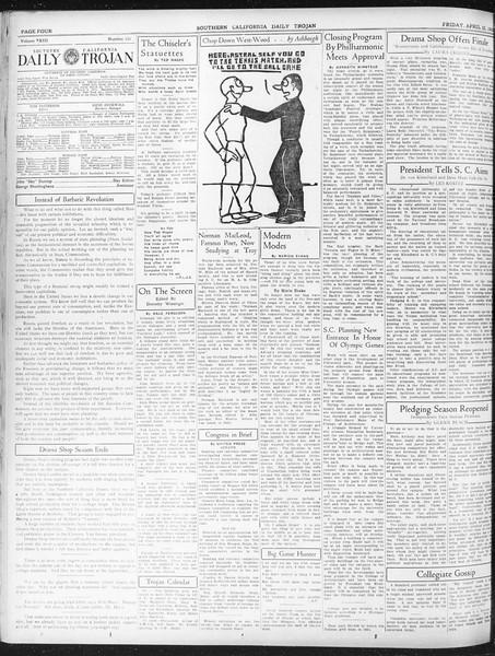 Daily Trojan, Vol. 23, No. 131, April 22, 1932