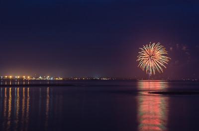 Inaugural Fireworks - Lewes Beach 2018