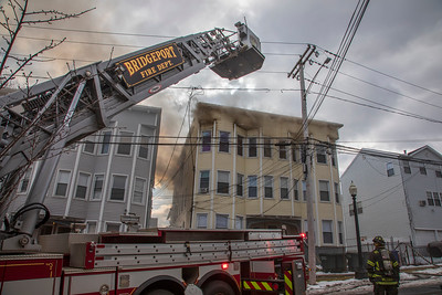 Madison Ave. 3rd Alarm Fire (Bridgeport, CT) 2/13/19