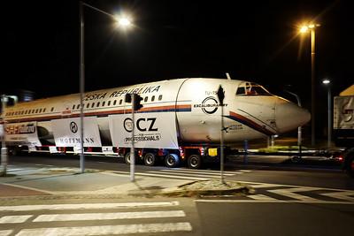 Převoz Tu-154 do Kunovic 25. 9. 2016