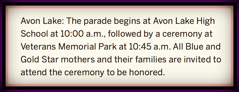 Avon Lake, OH Memorial Day Parade, Mon., May 28, 2018