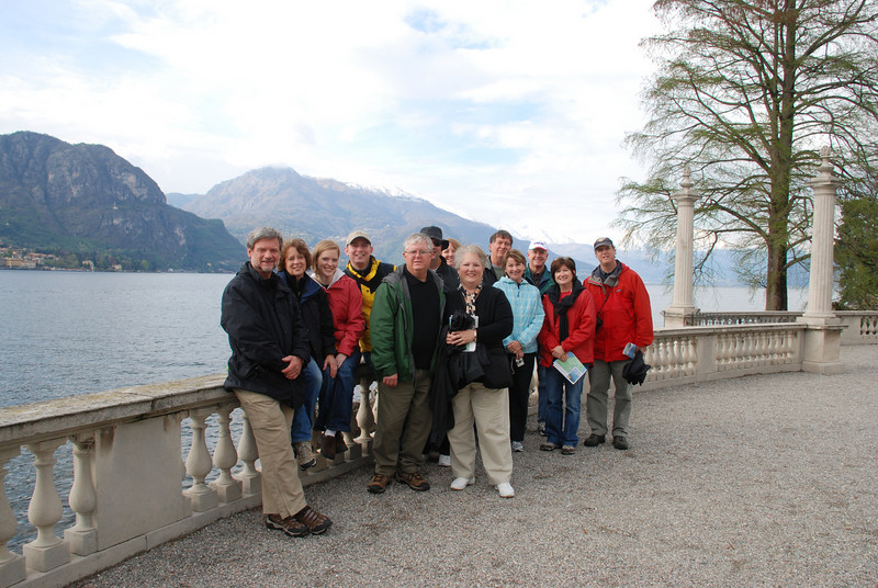 Our group at Villa Melzi, Bellagio, Italy
