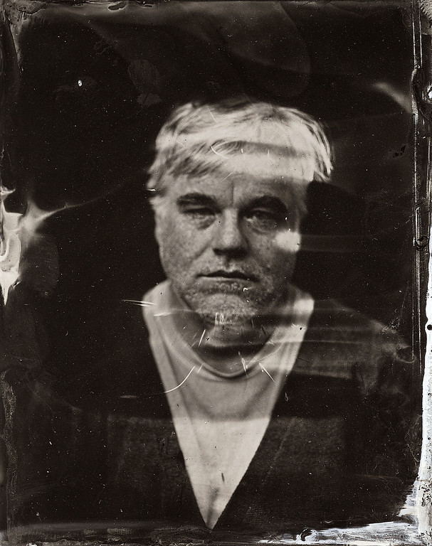 . Philip Seymour Hoffman  poses for a tintype (wet collodion) portrait at The Collective and Gibson Lounge Powered by CEG, during the 2014 Sundance Film Festival in Park City, Utah. (Photo by Victoria Will/Invision/AP)