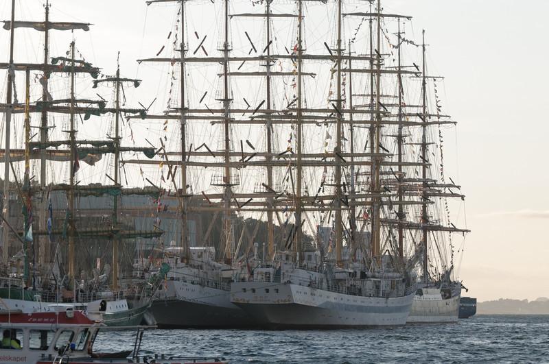 Diese waren zwei der grössten Schiffe. Beide kamen aus Russland.