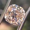 4.03ct Light Fancy Brown Antique Cushion Cut Diamond Halo Ring GIA LFB, SI1 61