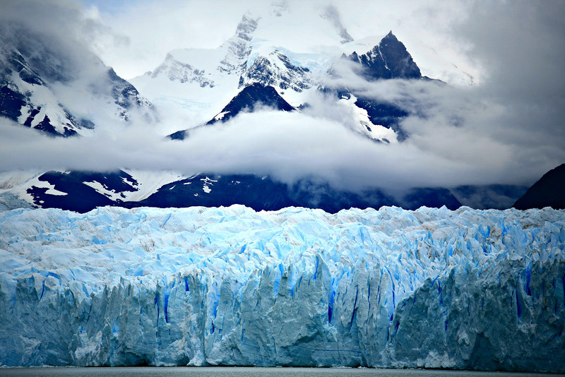 Perito Moreno glacier, in a national park near the southern tip of South America.