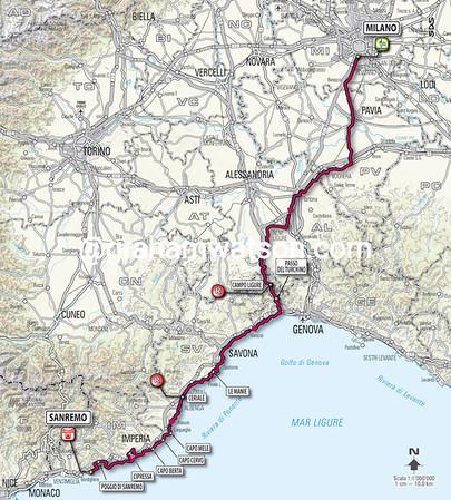Milan San Remo (Italy), 298kms