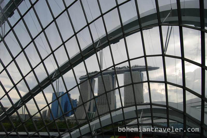 view of Marina Bay Sands from inside the cloud forest.jpg