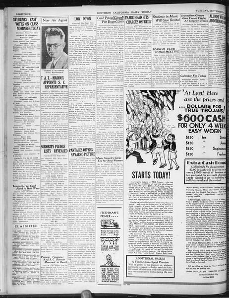 Daily Trojan, Vol. 22, No. 13, September 30, 1930