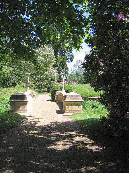 A bridge over a stream in the Frogmore gardens