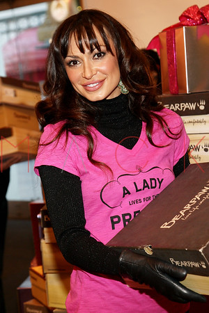 NEW YORK, NY - DECEMBER 13:  The BEARPAW boots charity event at Lady Foot Locker on December 13, 2011 in New York City.