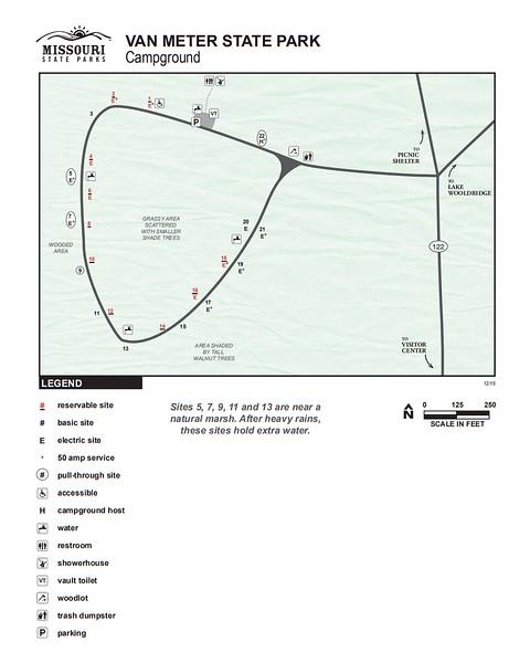 Van Meter State Park (Campground Map)