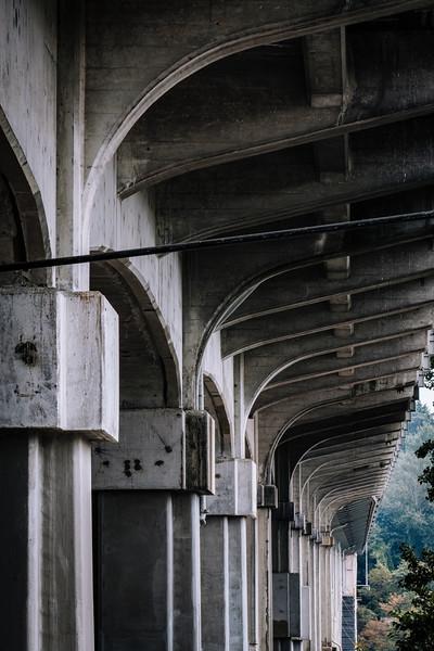Aurora bridge, underside.