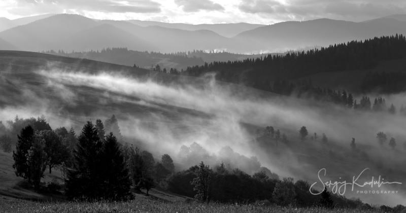 Morning in Carpathian mountains, Izki