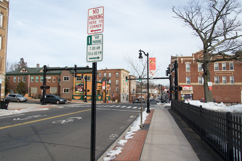 01/28/19  Wesley Bunnell | Staff  Street parking signs on Broad St in Little Poland near the entrance to General J. Haller Poste No.111.